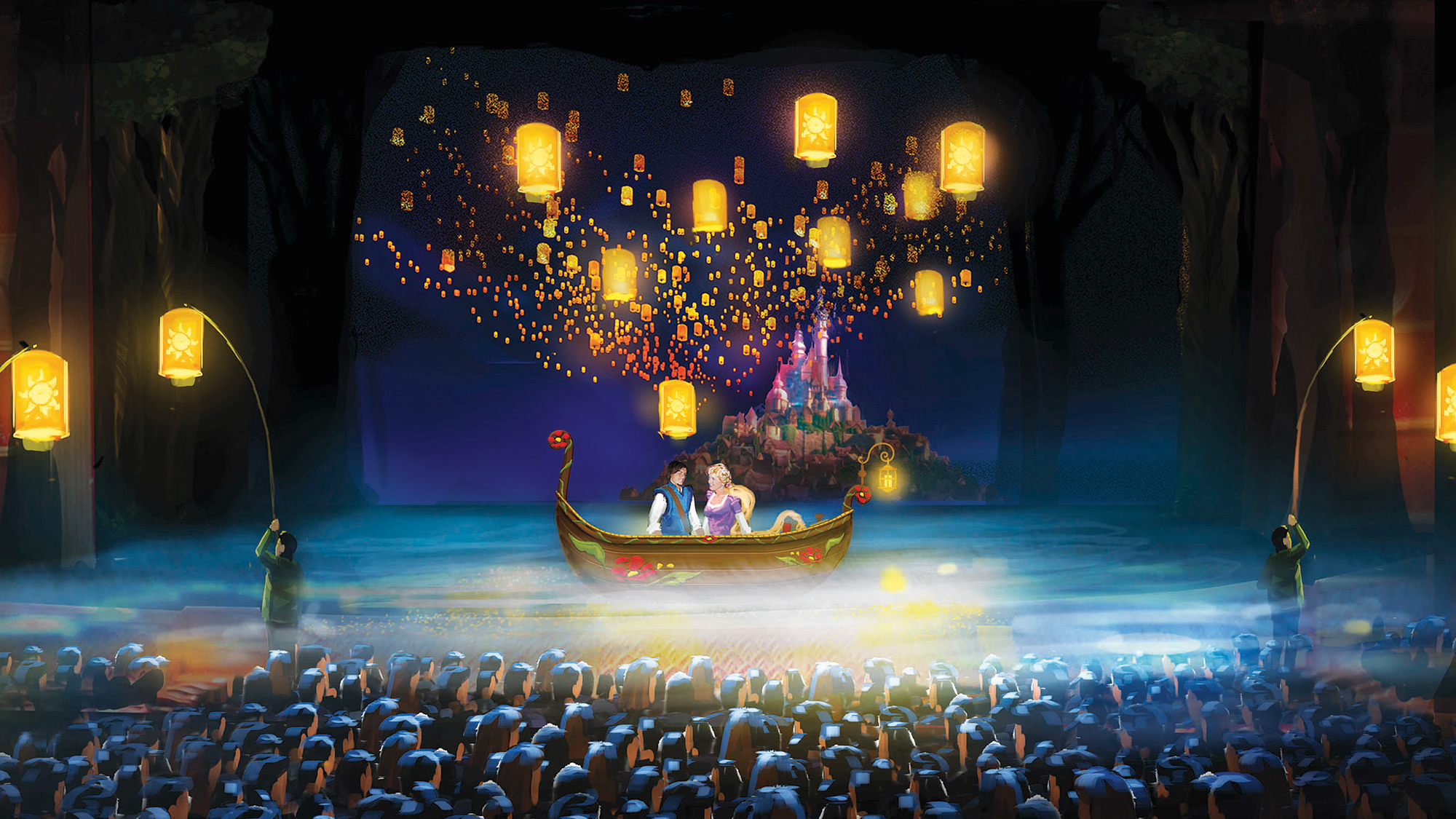 Disney Magic brings fairy tale to life: Travel Weekly for Lantern Festival Tangled  55nar