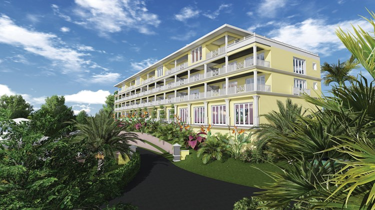 Douglas and Olympic Property Partners are redeveloping a Bermuda site long owned by the actor's family into an 82-room, ecoluxe resort.