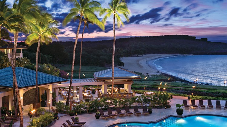 The Four Seasons Lanai at Manele Bay sits on the Hawaiian island that tech mogul Larry Ellison acquired in 2012 and is gradually turning into what he hopes is a model for resort environmental sustainability.