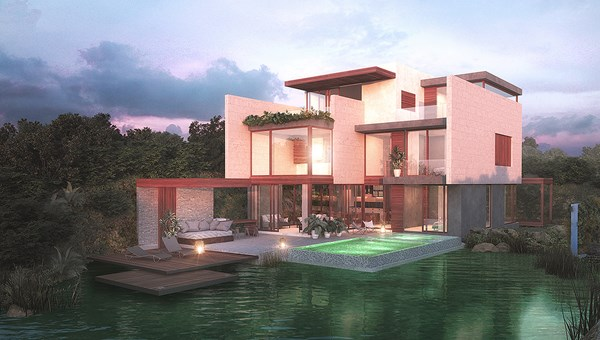 A rendering of Casa Manglar, a three-story unit planned for Mayakoba Residences in Mexico's Riviera Maya.
