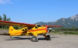 Wrangell Mountain Air's DeHavilland Beaver ready for takeoff from McCarthy.