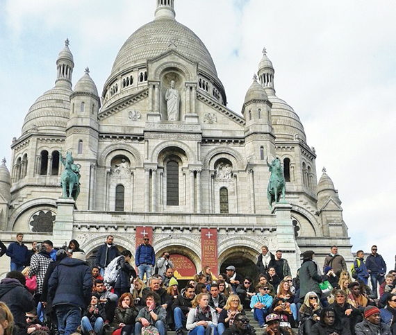 According to Atout France, France's tourism development agency, Sacre Coeur in Paris welcomes some 10.5 million visitors annually.