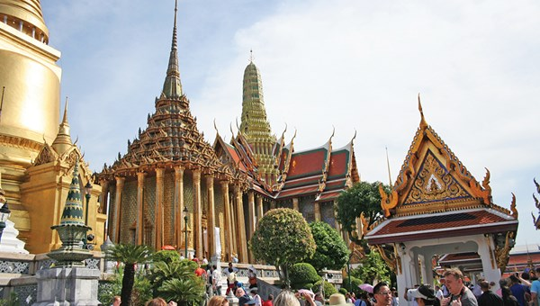 The Grand Palace in the Thai capital of Bangkok is said to welcome some 8 million travelers each year.
