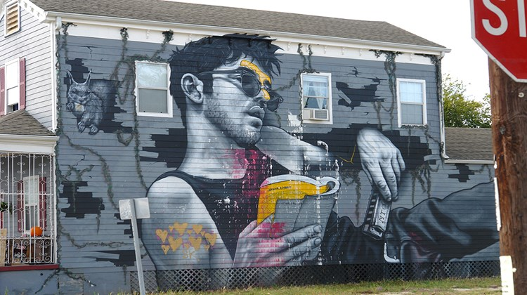 A mural on a house in New Orleans.