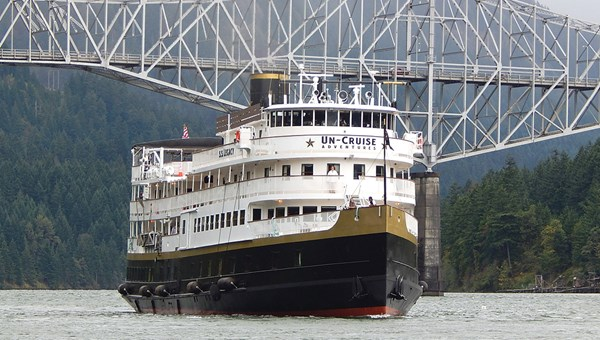 The Legacy, sailing for Un-Cruise Adventures, is a replica of a turn-of-the-century coastal steamer.