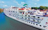 The Pearl Mist is one of the few coastal cruise ships to have individual balconies.