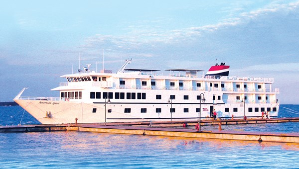 The American Cruise Lines ship the American Spirit has 51 cabins, some with individual balconies.