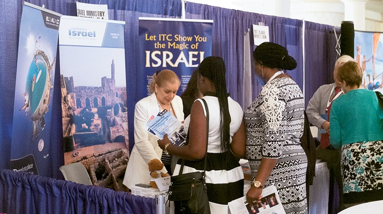 The Israel Ministry of Tourism booth was busy on Monday. According to Zane Kerby, ASTA CEO, of the 920 attendees at this year's trade show, 500 were registered as travel agents.