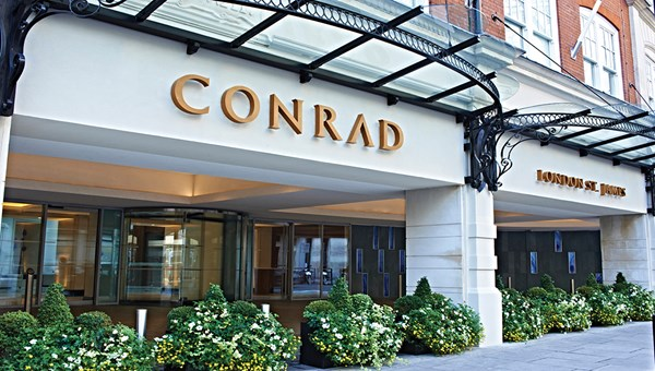 The Conrad London St. James encourages and even rewards the taking of selfies.