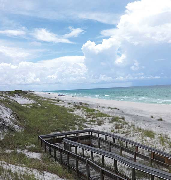 The beach at Deer Lake State Park in Walton County, where 19 miles of beach will be restored. Photo Credit: Robert Silk