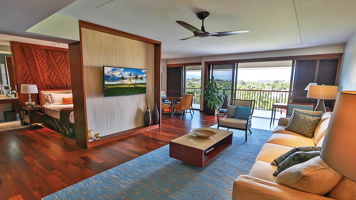 The new Makaiwa Suite was added to the Mauna Lani Bay Hotel & Bungalow as part of a $20 million property refresh in mid-2014.