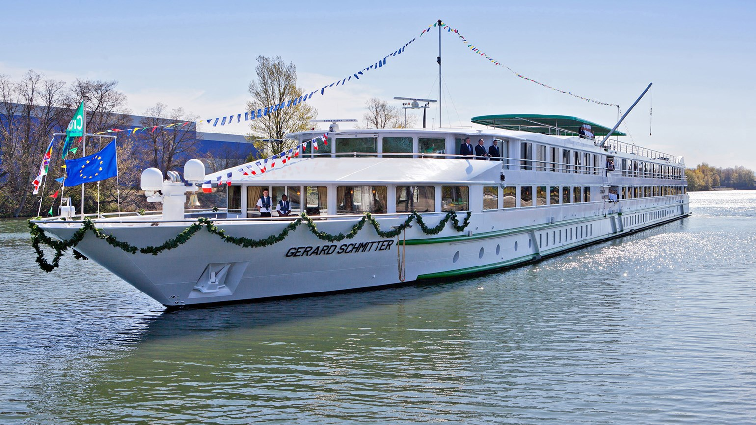 The 176-passenger Gerard Schmitter, named after CroisiEurope's founder, will sail the Rhine portion of the 40-day anniversary cruise.
