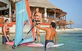 A windsurfing lesson at Club Med Cancun Yucatan.