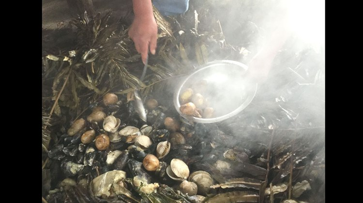 A clambake, Chiloe Island style, courtesy of farmer-turned-agritourism practitioner Maria Louisa Moldovano, who runs a tourist hotel in a rural part of the island.