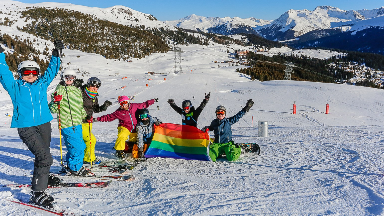 Switzerland's Arosa resort readies for annual LGBT ski week