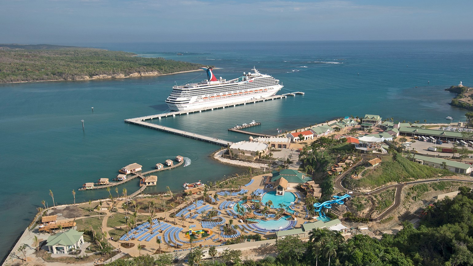 The Carnival Victory in Amber Cove on Tuesday.