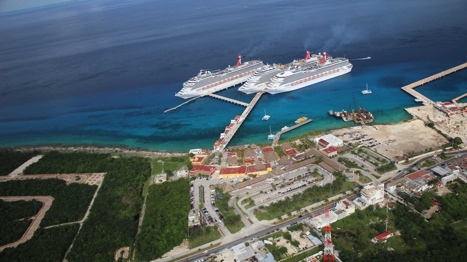 Carnival opens third pier at Cozumel port