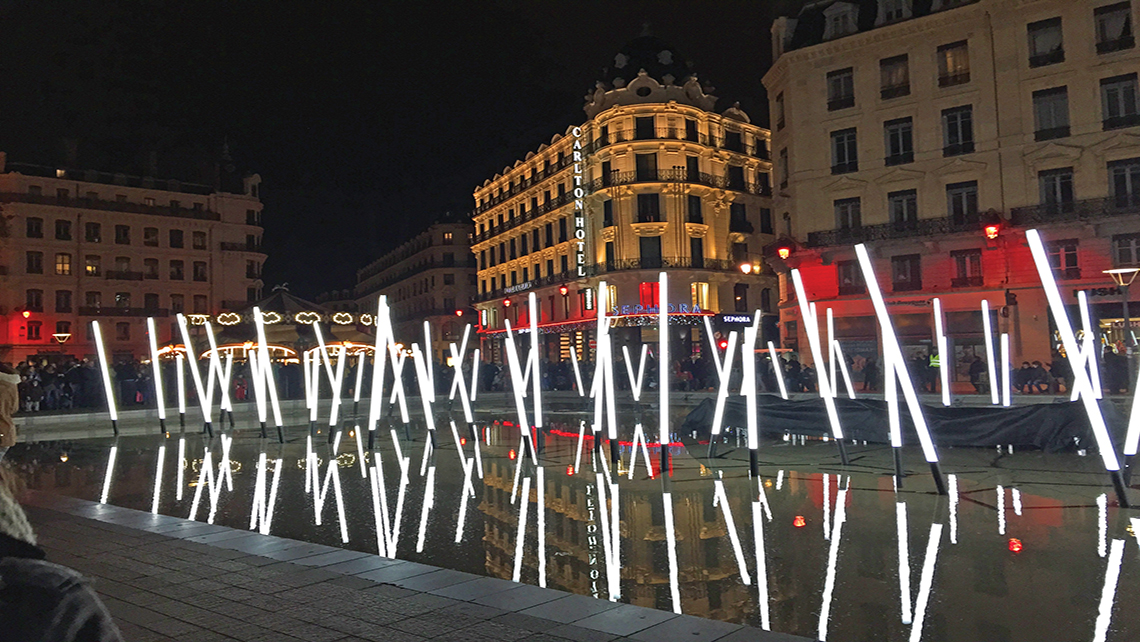 A street display during Lyon's Festival of Lights in 2014. This year's festival begins Dec.  5. Photo Credit: Felicity Long