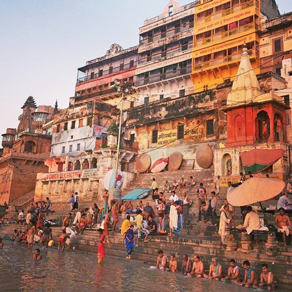 The holy city of Varanasi is a popular extension for Ganges River cruises. Photo Credit: Michelle Baran