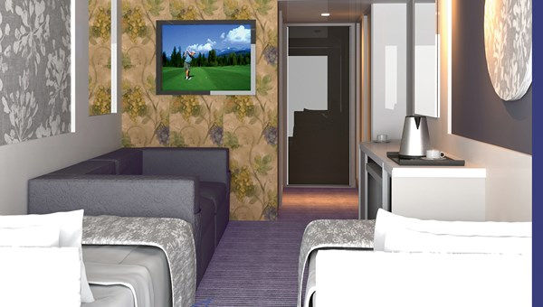 A rendering detailing some of the interior upgrades Victoria Cruises is planning for its 378-passenger Victoria Jenna.