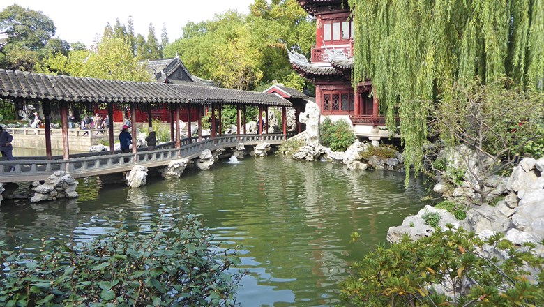 The Yuyuan Garden in Shanghai, formerly called the Ming Dynasty Garden, dates to the 16th century.