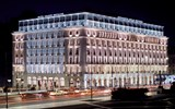 The Hotel Grande Bretagne, which is centrally located on Syntagma (Constitution) Square.