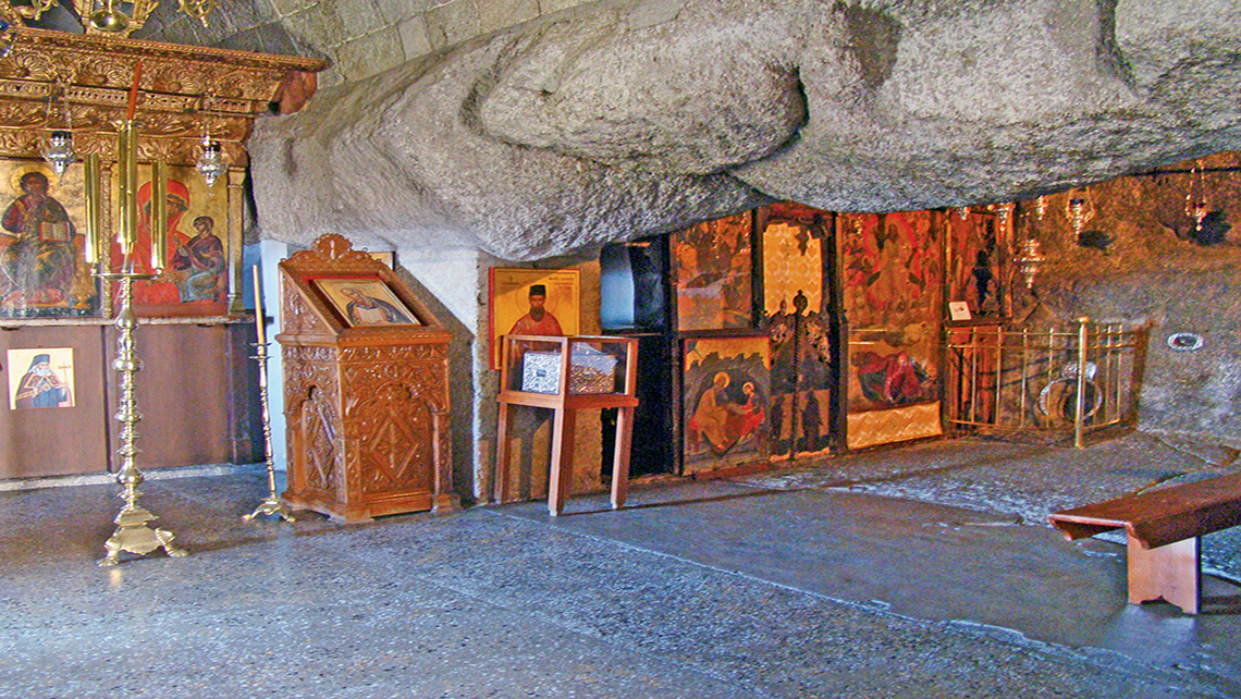 The Cave of the Apocalypse on Patmos, where St. John the Apostle was said to have written his Gospel and the Book of Revelations.