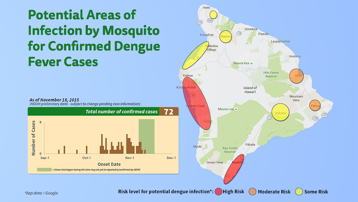 Big Island approaches 80 confirmed cases of dengue fever
