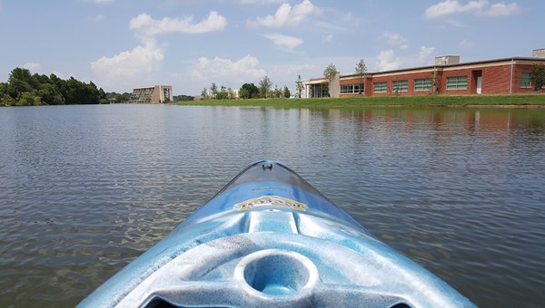 Kayaking with tour company Kayak-iti-Yak in Bayou St. John.