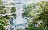 Rendering of the Forest Valley planned at the Jewel Changi Airport in Singapore.
