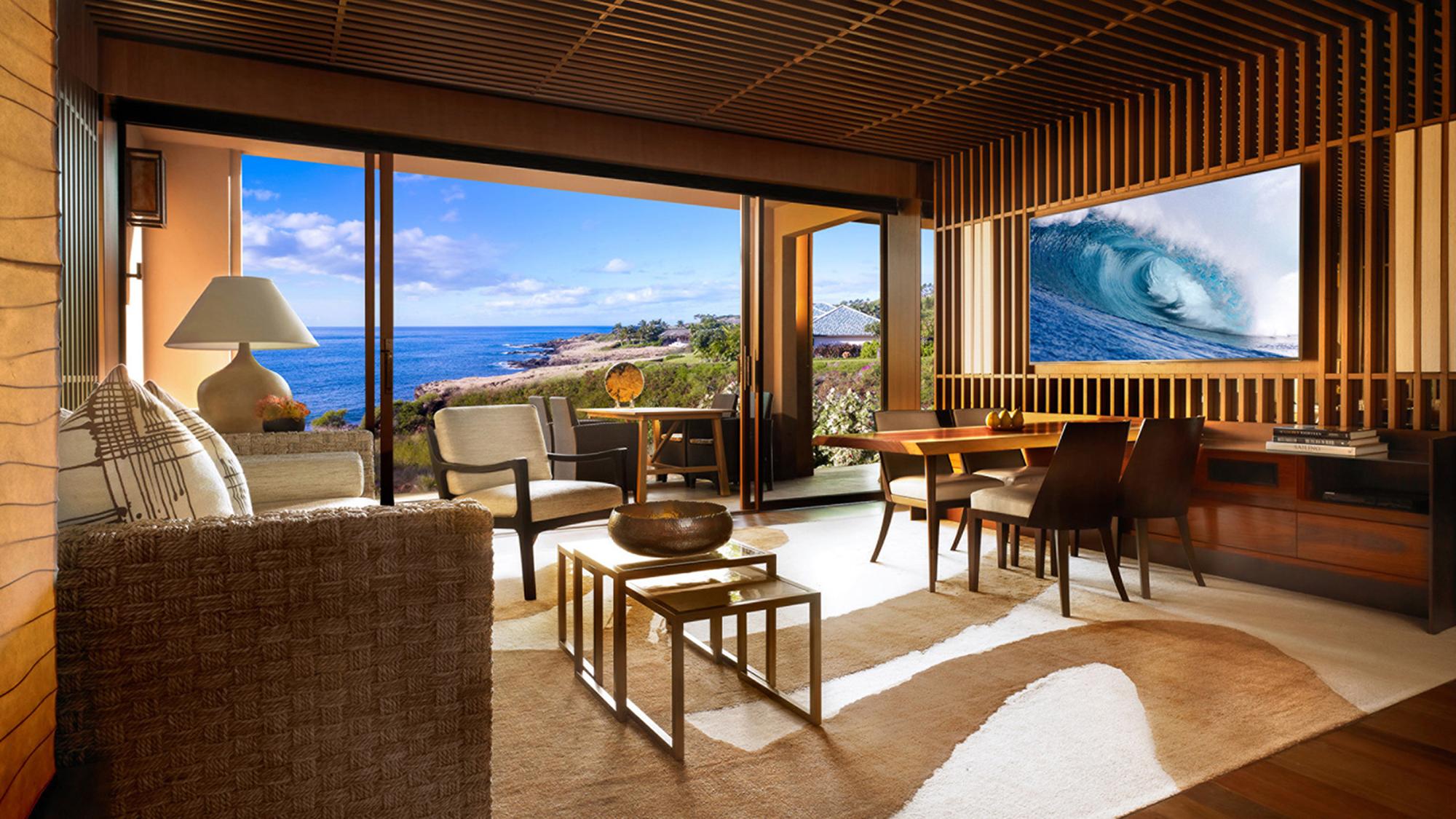 Four seasons resort lanai eyes feb reopening travel weekly for Four season rooms pictures