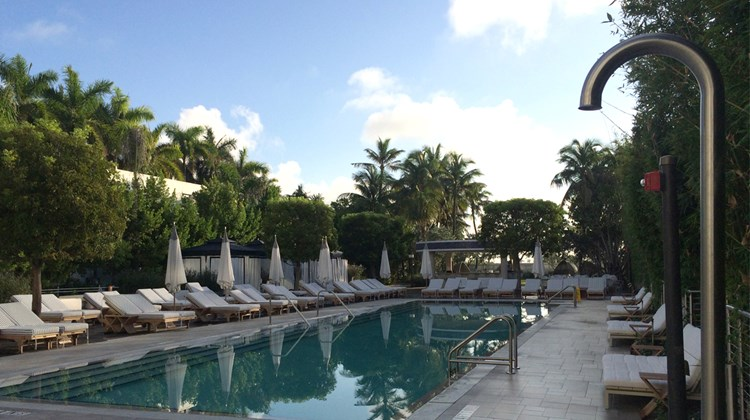 A serene, early-morning view of the Nautilus' pool.