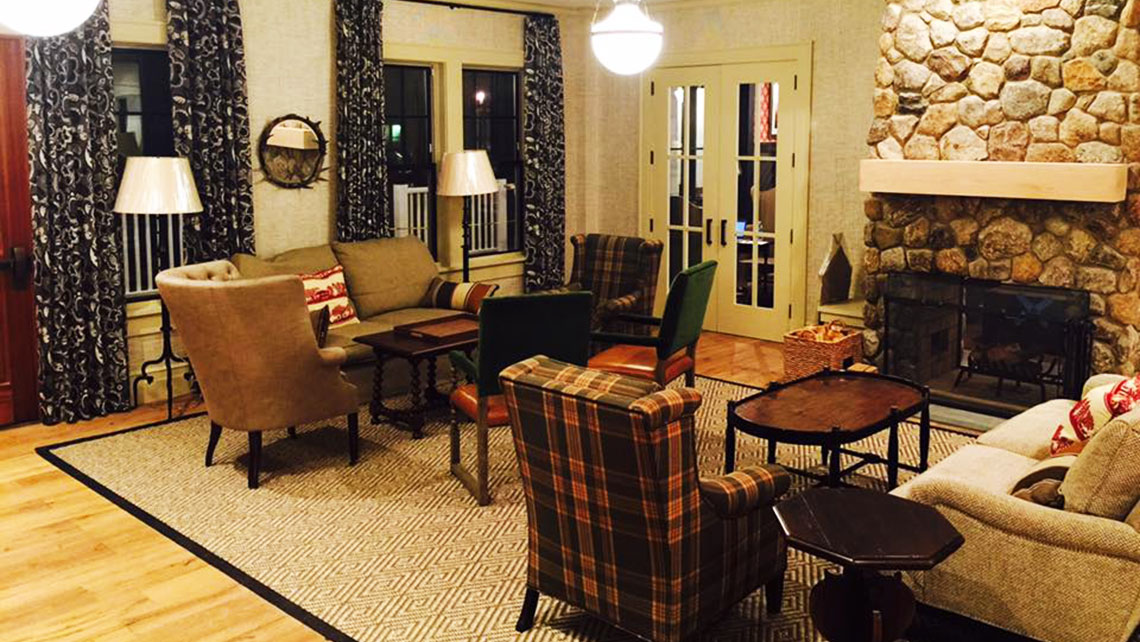 Kimpton's growth in revenue per available room was the slowest of IHG's brands in the third quarter. Pictured, the lobby at the new Taconic Hotel in Manchester, Vermont.