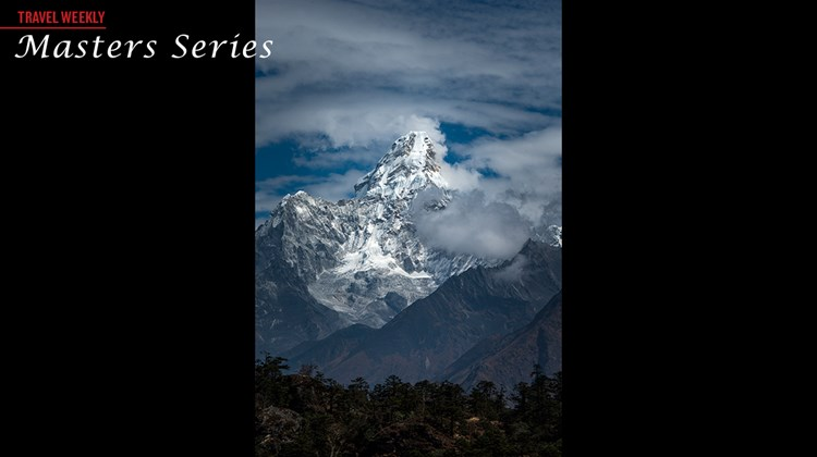 A dramatic view of Ama Dablam.