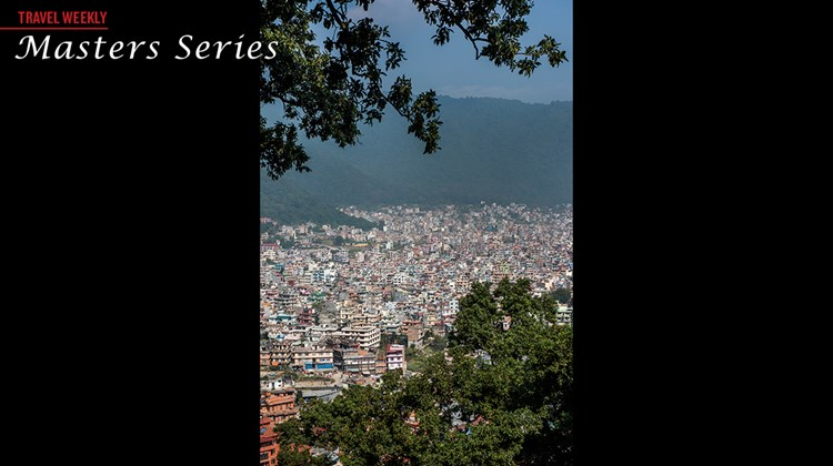 A view of Kathmandu from the Swayambhunath Temple.