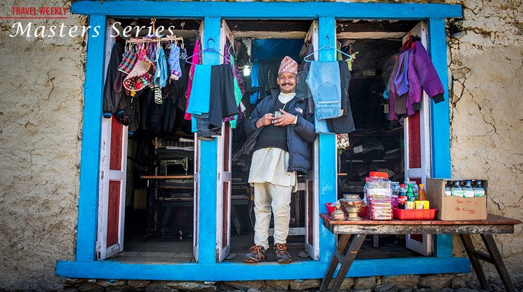 A store along the Everest trek in the Himalayas.