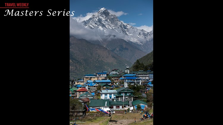 The town of Lukla in the Himalayas.