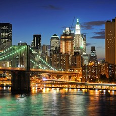 Two nights in New York City, $212