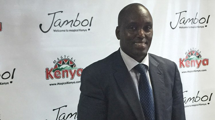 Kenyan Tourism Board managing director Muriithi Ndegwa.<br /><br /><strong>Photo Credit: Abe Peck</strong>