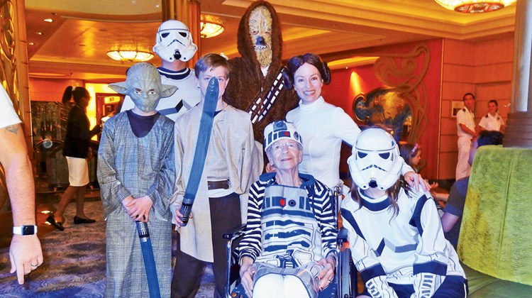 The Marcker family from Winnipeg dressed the part during the Star Wars Day at Sea.<br /><br /><strong>Photo Credit: Johanna Jainchill</strong>