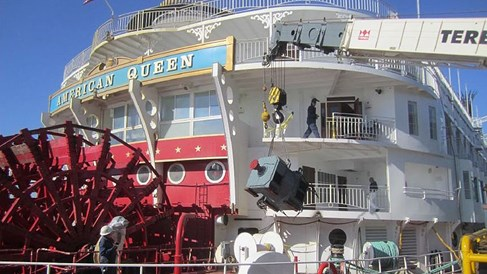 Sprucing up paddlewheelers during the winter
