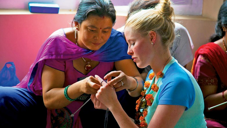 "One of the ""In Focus"" tours is a craft class in Nepal. Proceeds help disadvantaged women."