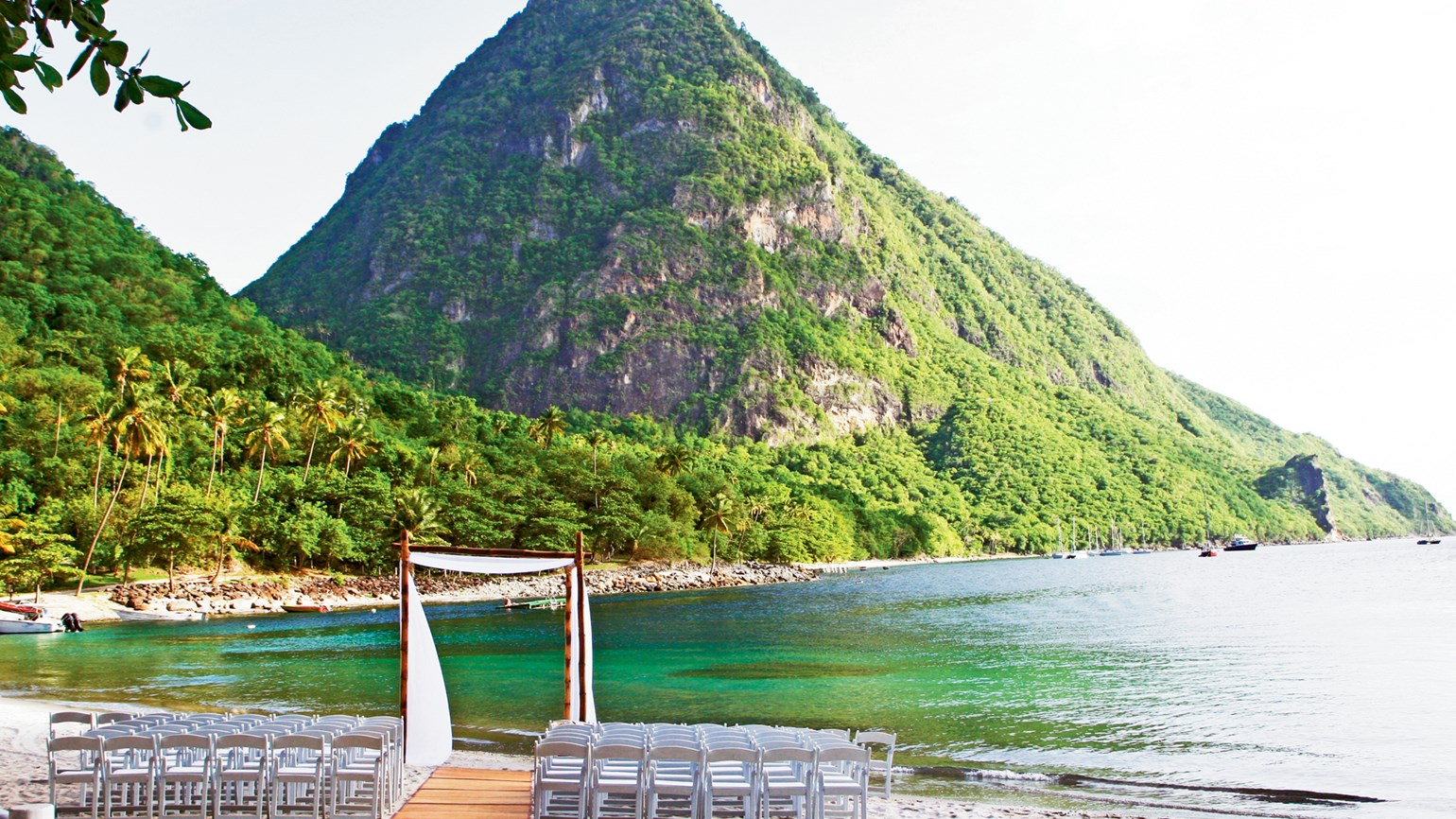 Vows to wow at st lucia venues travel weekly for Texas beach wedding packages