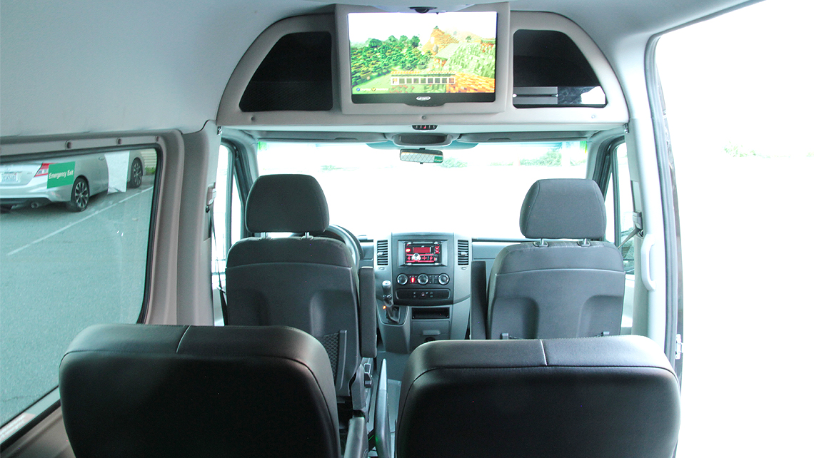 The interior of a Bandago van.