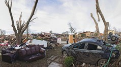 Dec. 31: A neighborhood devastated by recent tornadoes in Garland, Texas.