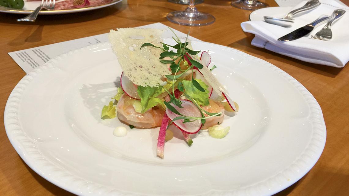 A shrimp appetizer at the Share restaurant.