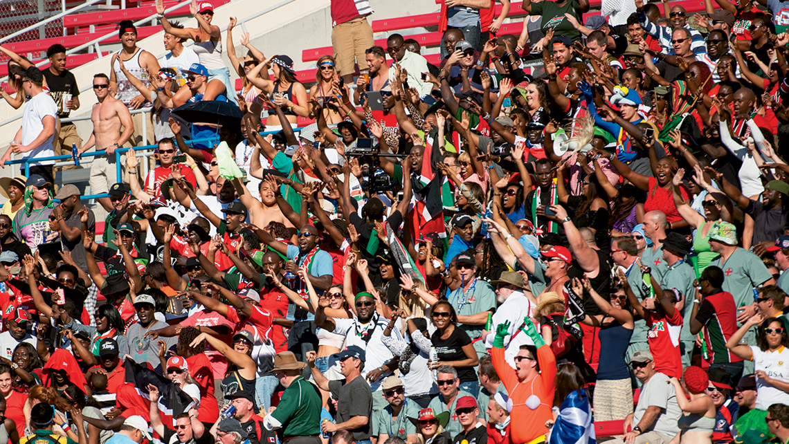 USA Sevens, the American stop on the HSBC Sevens World Series rugby tour, brought 75,000 attendees to Las Vegas in 2015. Photo Credit: Courtesy of USA Sevens