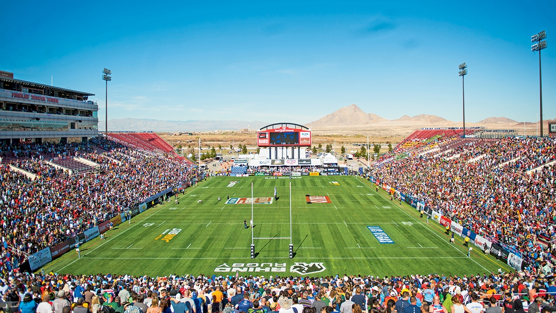 Sam Boyd Stadium should have close to 80,000 fans for the USA Sevens tournament in March. Photo Credit: Courtesy of USA Sevens