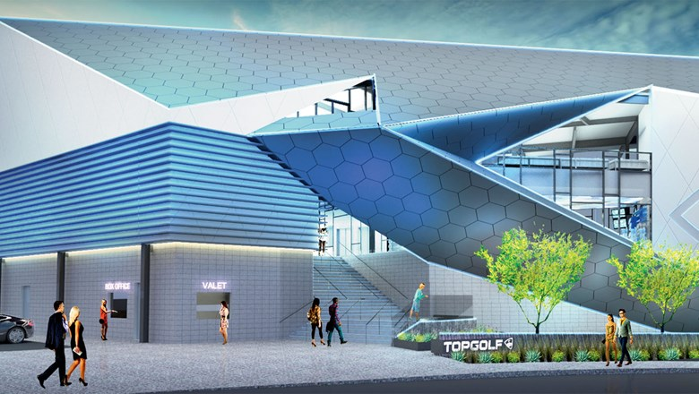 ffb2dc0b82 A rendering of Topgolf Las Vegas, which is preparing for a late-May opening