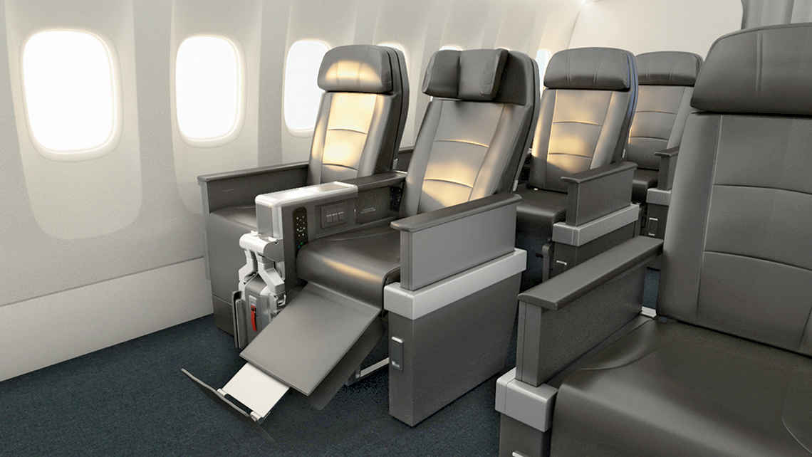 American Airlines plans premium economy seats in all planes by 2018.